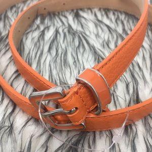 Talbots Accessories - Talbots Sz Medium Orange Belt New without Tags 🏷